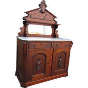 American Antique Victorian Server Antique Sideboard Antique Cabinet Victorian East Lake Furniture