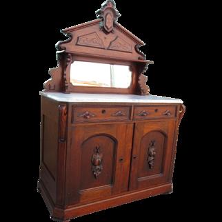 American Antique Victorian Server Antique Sideboard Antique Cabinet Victorian East Lake Furniture