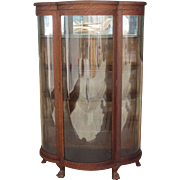 American Antique China Cabinet Antique Display Cabinet Antique Bow Front Antique Furniture