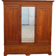 Antique Armoire Antique Wardrobe Antique Furniture Linen Fold Armoire