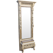 American Antique Victorian Hall Mirror Antique Wall Mirror Antique Furniture