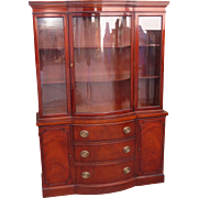 Original Drexel China Cabinet Vintage American Display Cabinet Mahogany Furniture