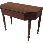 Antique Console Table Antique Flip Top Table Antique Game Table Antique Furniture