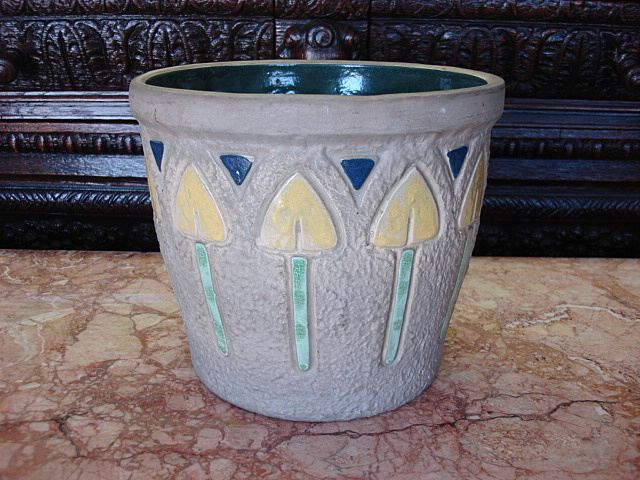 Antique Roseville Pottery Mostique Arts and Crafts Jardiniere Large Pot