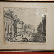 Beautiful Original Antique English Print Mardol Street