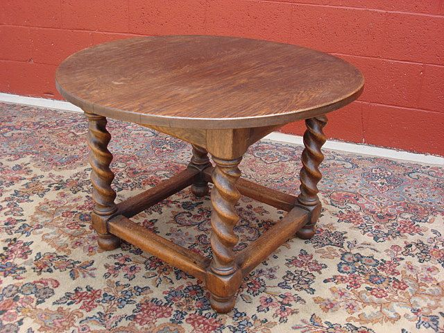 Antique Furniture French Antique Barley Twist Round Table Coffee Table SOLD  | Ruby Lane