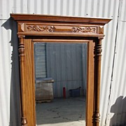 Antique Furniture French Antique Wall Hung Carved Beveled Glass Mirror