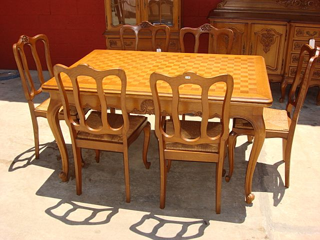antique french dining table set gallery
