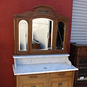 Antique Furniture French Antique Dresser Marble Top Washstand Chest of Drawers French Antique Furniture