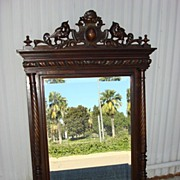 Antique Furniture French Antique Beveled Glass Wall Mirror