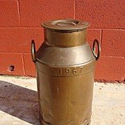 Vintage Original Dutch Copper milk Can Samenwerking