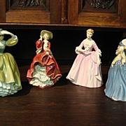 Set of 4 Vintage Royal Doulton Figurines