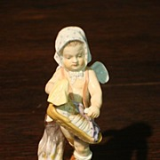Original Antique Meissen Cherub Figure