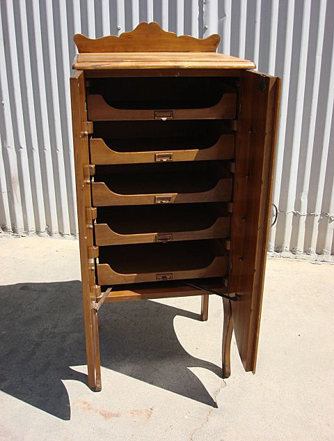 American Vintage File Cabinet Music Cabinet SOLD on Ruby Lane