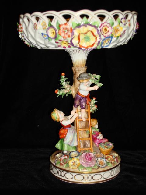Original Von Schierholz Porcelain Compote Figural Stand