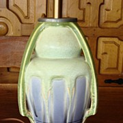 Super Rare Original Antique Meissen Vase - Lamp Arts and Crafts Mission Craftsman Style