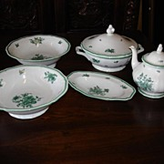 5 Large Pieces of Rosenthal China Germany Tea Pot 2 Large Bowls Soup Bowl With Lid Dish - Tray Chippendale