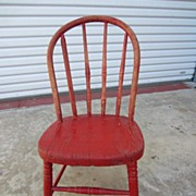 Antique Furniture Primitive Country American Antique Child's Chair
