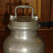 Rare Original French Antique Pewter Tea Caddy 1875 International Exposition Paris Tea Cannister Casket