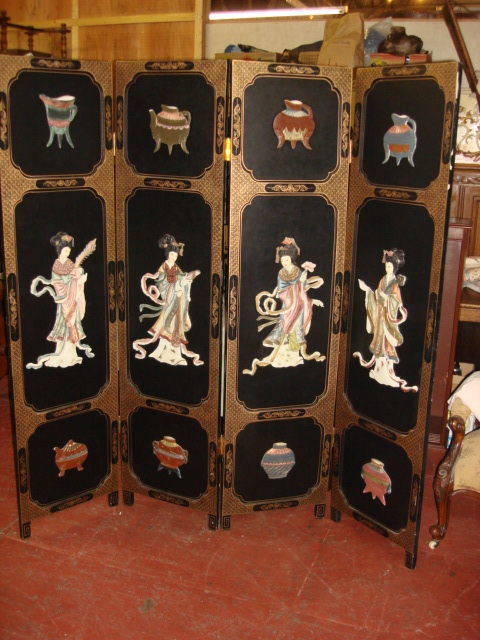 Beautiful original Hand Carved Folding Screen Room Divider