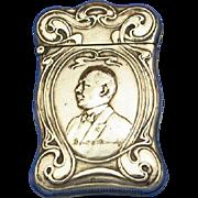 Frank C. Roundy/Oriental Consistory match safe, Scottish Rite of Freemasonry, made by Whitehead & Hoag