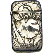 Floral motif match safe, sterling by Whiting Mfg. Co., #6020