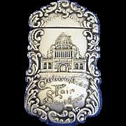 Columbian World's Fair match safe, 1492-1892, Administration Building