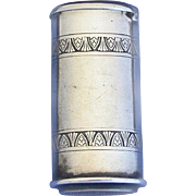Oval shaped, engraved design match safe, by R. Wallace & Sons, c. 1890