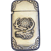 BPOE elk and clock motif match safe, Benevolent and Protective Order of Elks, by Wm Schimper