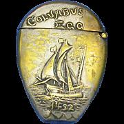 Columbus Egg match safe made for the 1892 Columbian World's Fair-Chicago World's Fair