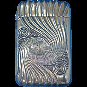 Swirl motif match, gilted sterling, cat. #5000, c. 1900