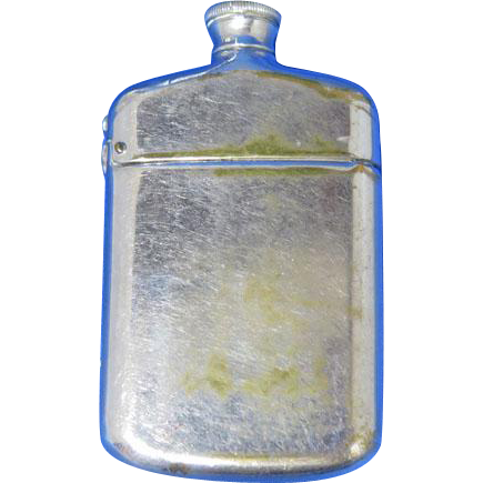 Figural flask or bottle match safe. c. 1897 by Wm. Schimper & Co.