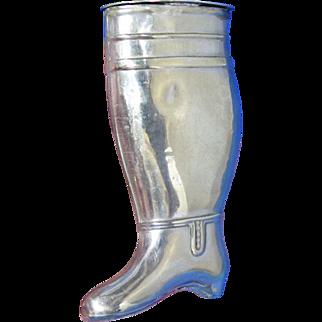 Figural boot match safe, c. 1890