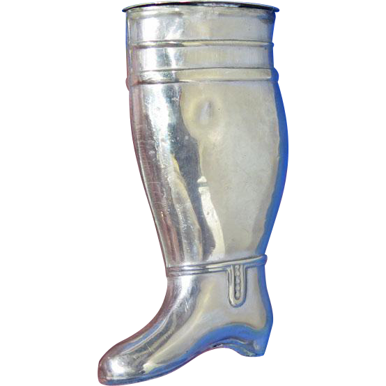 Figural boot match safe, c. 1890