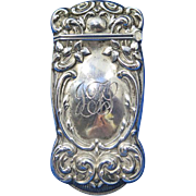 Floral motif and acanthus scrolls match safe, sterling by Gorham Mfg. Co., B1100, 1909