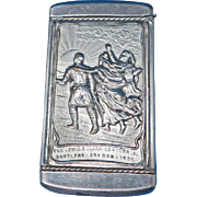 The Lewis & Clark Centennial, Portland-Oregon 1905 souvenir match safe, by August Goertz Co., Forestry Building