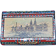 1893 Chicago World's Fair, Machinery Hall match safe, Bryant & May, litho tin, Columbian Exposition