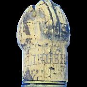Bollinger Champagne cork advertising match safe, 1878 registered design