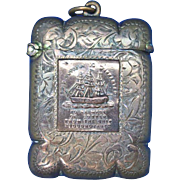 Horatio Nelson's flagship Foudroyant commemorative match safe, copper, c. 1897