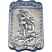 Venus Rising motif match safe by Wm. Schimper Co., G. Silver, c. 1905