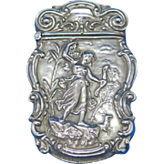 Diana the Huntress motif match safe, c. 1900