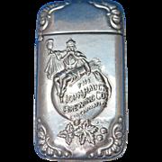 John Hauck Brewing Co., Cincinnati, OH match safe, by Wm. Schimper Co., c. 1895