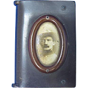 Baden Powell, book-shaped match safe, vulcanite, c. 1907, Boy Scouts