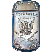 Phoenix Brewery, St. Louis, MO adv. match safe, c. 1893, pre-prohibition, beer