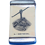 Kalamazoo Railroad Supply Co. match safe, celluloid wrapped by Whitehead & Hoag, c. 1905