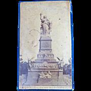 Souvenir Niederwald Memorial papier mache' match safe, c. 1890, German