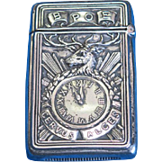 BPOE motif match safe, sterling by Gorham Mfg. Co., B3987, 1913, Benevolent and Protective Order of Elks