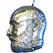 Figural King Edward VII match safe, by Samuel Basnett, Birmingham, c. 1902, silver plated
