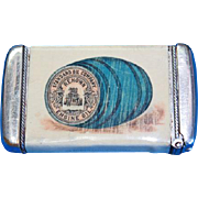 Standard Oil Company celluloid wrapped match safe, by Whitehead & Hoag, c. 1905, Capitol Cylinder Oil; Renown Engine Oil