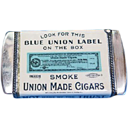 Union Made Cigars match safe, celluloid wrap, Whitehead & Hoag; Cigar Makers' Union No. 316, McSherrystown, PA